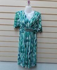 Together @ Kaleidoscope Size 8 Dress Green Print Jersey  BNWT  G006