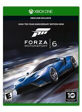 Forza Motorsport 6 Ten Year Anniversary Edition Xbox One Exclusive New Sealed !!