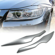 Painted 354 Silver FRONT Headlight Eyelids Eyebrows For BMW E90 E91 3-Series 4DR