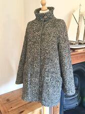 Voir par Chloe Designer laine mohair mélangé Tweed Cape Manteau, Taille 12
