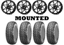 Kit 4 Maxxis Liberty Tires 28x10-14 on Itp Tornado Matte Black Wheels Fxt(Fits: More than one vehicle)