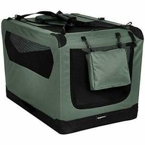 6041 AmazonBasics Premium Folding Portable Soft Pet Crate - 91 cm, GREY