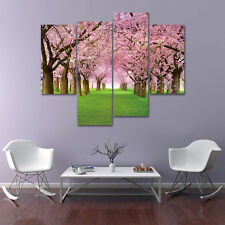 4 Parts Cherry Blossoms Art Oil on Paintings Canvas Unframed Wall Flowering 53