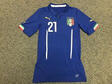 2014 Italy Italia Pirlo Jersey Shirt Kit Football Blue Puma Home 21 Medium Rare