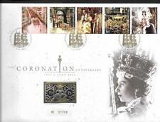 GB, QE11, 2003 ILLUST. CORONATION ANNIV. FDC, WITH SILVER/GOLD INGOT IN COVER