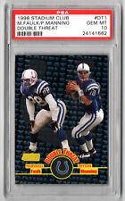 New listing 1998 Stadium Club Double Threat Peyton Manning/Faulk PSA GEM MT 10 #DT1 Colts RC