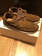 VISVIM Maliseet Shaman Folk Camel Moccasin Sneakers Sz EU 43-44.5/ US 10.5