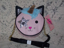 "NWT Betsey Johnson ""Chloe"" Pink Kitch Canteen Crossbody Handbag"