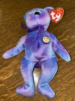 TY BEANIE BABY BEAR CLUBBY IV (4) RETIRED WITH DISPLAY CASE AUTHENTICATED