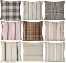 Country Striped 100% Cotton Decorative Cushions