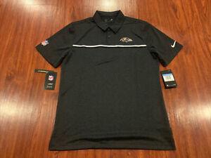 Nike Men's Baltimore Ravens Football Early Season Polo Jersey Shirt Medium M