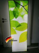 XXL LED Bild Wandbild Leuchtdisplay Natur Blätter Leuchtkasten 50 x 150 cm