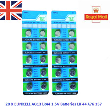20 X T&E AG13 LR44 1.5V LR 44 A76 357 ALKALINE BUTTON/COIN CELLS Batteries_UK