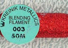 Kreinik Blending Filament 003 Red Metallic Thread 50M Cross Stitch
