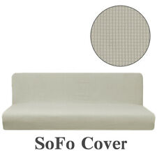 Replacement Stretch Armless Sofa Bed Cover Couch Protector Stretch Slipcover New
