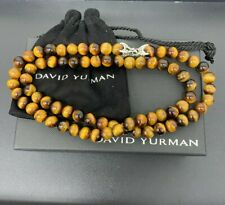 26 Inches With Tigers Eye David Yurman Bead Necklace 8Mm