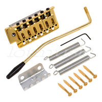 Gold Electric Guitar Tremolo Bridge Single Locking System for Strat ST Style