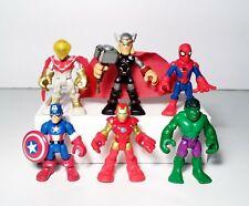Playskool Marvel Super Hero Adventures Lot 6 Thor Captain America Hulk Figures