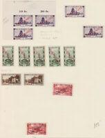 1927 SAARBEBIET SAAR - OFICIALS  LOT CORNER PLATE ++ MINT H + NH MI.16,17,20,21