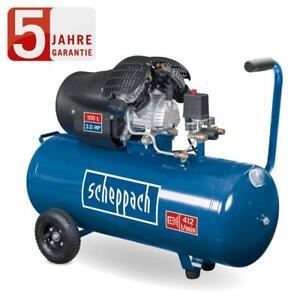 Scheppach Druckluft Kompressor 100 L Luftkompressor 10bar HC120DC Doppelzylinder