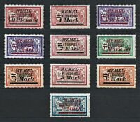 DR Memel Germany Rare WWI Stamp 1922 Overprint FLUGPOST AirMail Service Full Set