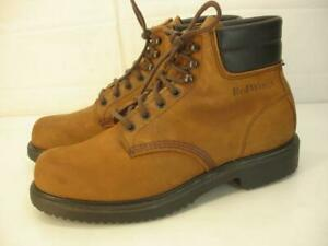 Mens 10 B Red Wing Work Boots 207 SuperSole Brown Leather Lace-Up Ankle USA Made