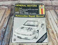 Haynes GM 1988 thru 1995 Repair Manual 1671 Buick Regal Olds Chevy Pontiac Prix