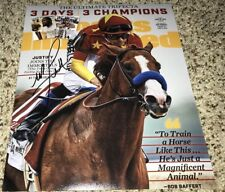 Mike Smith Signed 8x10 Photo Justify Triple Crown with Proof