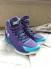 Under Armor Armour UA Curry 1 father and son basketball sneakers kicks purple