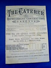ANTIQUE VICTORIAN THE CATERER & REFRESHMENT CONTRACTORS GAZETTE 1ST ISSUE 1878