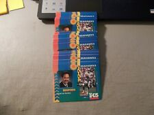 LOT OF 90 1994 SEATTLE SEAHAWKS POCKET SCHEDULES UNFOLDED