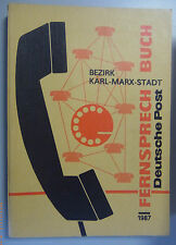 Fernsprechbuch Bezirk Karl-Marx-Stadt 1987 Burgstädt Falkenstein Aue PenigPlauen