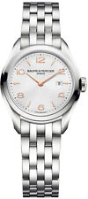 NEW BAUME ET MERCIER CLIFTON 10175 SWISS QUARTZ ROSE GOLD SILVER LADIES WATCH