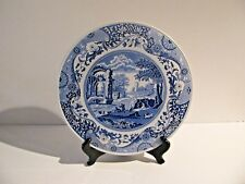 Spode Blue Italian Cake Round Serving Plate Made in England