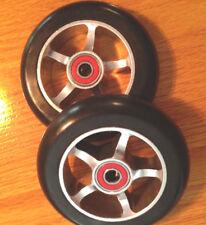"Pair 4"" X 1""  Wheelchair Caster Wheels SPORT CHAIRS Quickie Tilite Invacare"