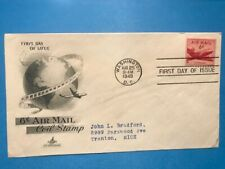 #C39 6c Artcraft FDC 1949 Air Mail Coil Red Plane