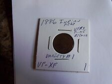 RARE HIGH GRADE 1886 INDIAN HEAD PENNY VARIETY #1 (must see)