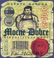 Poland Brewery Lwówek Śląski Mocne Dobre Beer Label Bieretikett Cerveza ls134.7