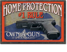 Home Protection #1 Rule Own A Gun 2x3 Magnet