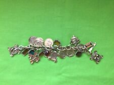 Vintage Charmed Bracelet With Stones And Coins, Beautiful