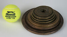 Set of Antique Greek Ottoman Turkish flat holed brass oka weights