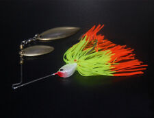 5PCS Fishing Swim Bass Fly Jig Rubber spoon Lure Spinner SpinnerBaits 14.5g