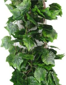YunKo Meiliy 8 Ft Artificial Greenery Ivy Vine Plants Foliage Grape Leaves Vine