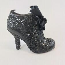 Irregular Choice Mutiny Black Ankle Lace Up Boot Heeled Sexy Boho Shoes 36 UK3