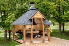 Grill Grillkota Pavillon Gartenhaus Grillhütte Kota Grillhaus Holz, 45mm 383818