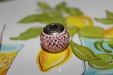 brighton bead for bracelet, baby pink color signed big bead