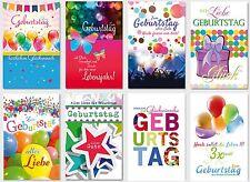50 NEUE GEBURTSTAGSKARTEN bunte Glückwunschkarten Grusskarten PREMIUM!
