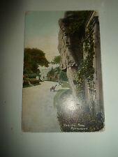 Vintage Colour PC BOSTON PARK, Rotherham Franked+Stamped 1907 Ivanhoe Series