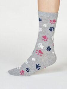 Thought Eco Organic Cotton Ladies Paw Socks