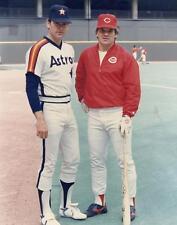 PETE ROSE & NOLAN RYAN 8X10 PHOTO CINCINNATI REDS ASTROS BASEBALL MLB PICTURE